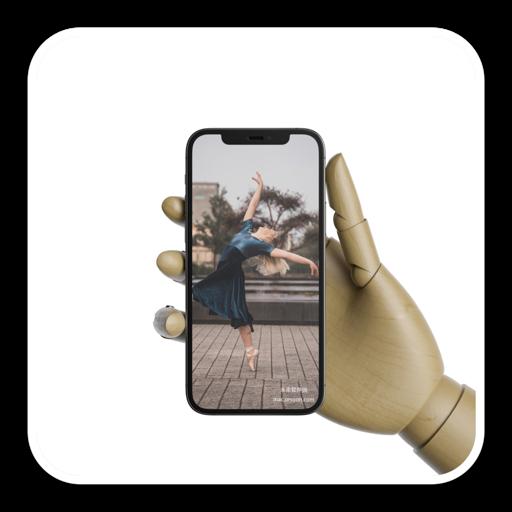 木制手拿着iPhone 12 Pro模型展示PSD模板