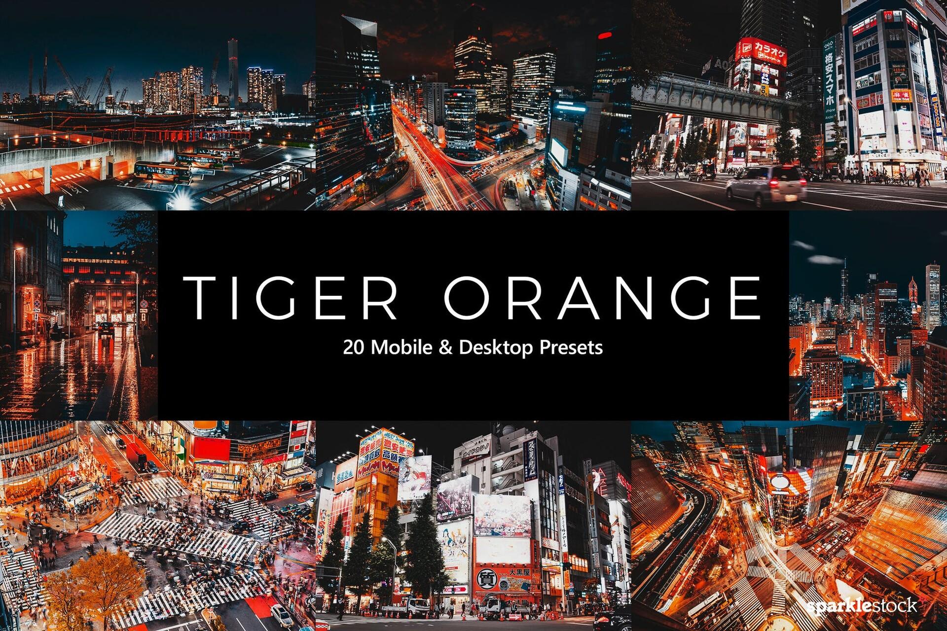 20种橙色调夜景调色效果lut预设