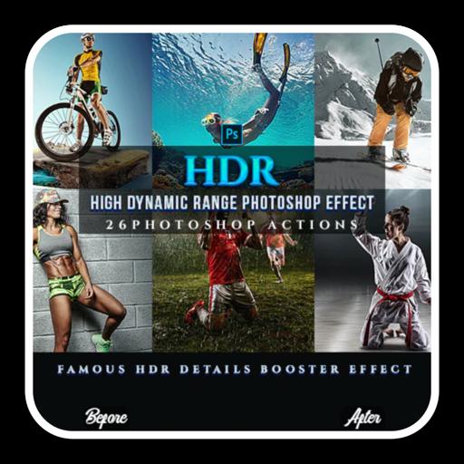 HDR体育杂志调色ps动作