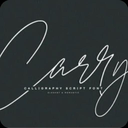 Carry精品书写字体