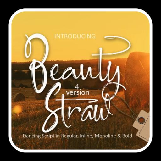 Beauty Straw钢笔手写字体