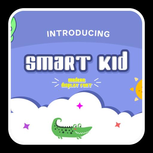 现代酷炫卡通字体Smart Kid