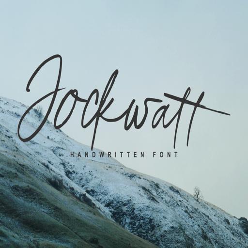 现代时尚英文书法字体Jockwatt Font