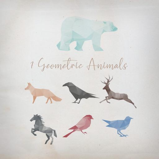 几何动物形状Photoshop笔刷