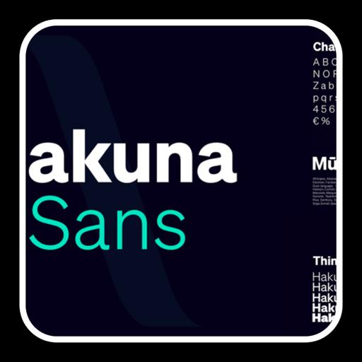 笔刷字体hakuna sans