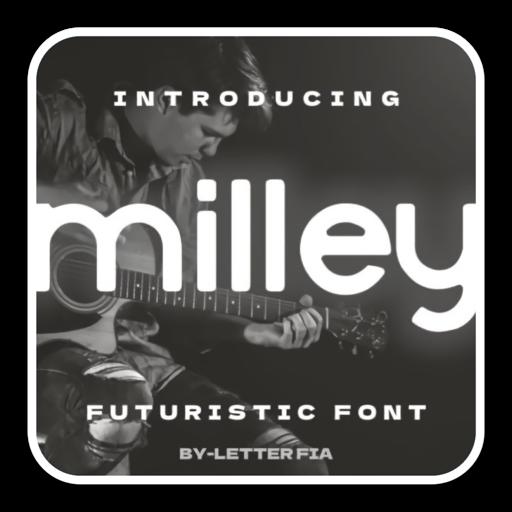 简单未来感无衬线字体Milley