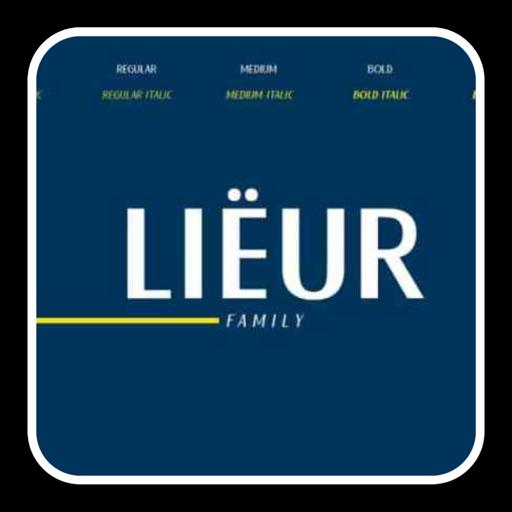 优雅的无衬线字体Lieur