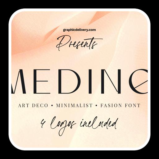 Medine时尚艺术设计字体 for mac