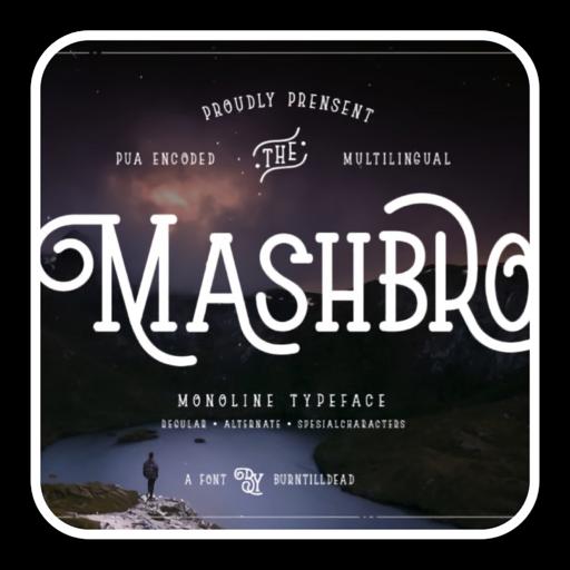 Mashbro优雅独特显示字体