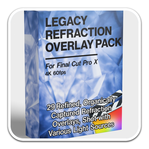 Legacy Refraction Overlay Pack Mac(光线折射叠加效果FCPX模板)