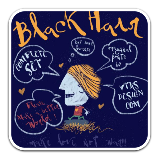 Vtks BlackHair不规则的大胆手写字体
