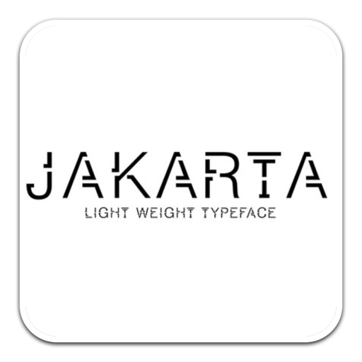 JAKARTA奇特缺口字体