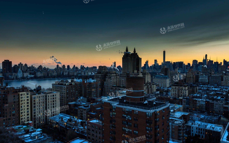 冬季纽约风景3K动态壁纸