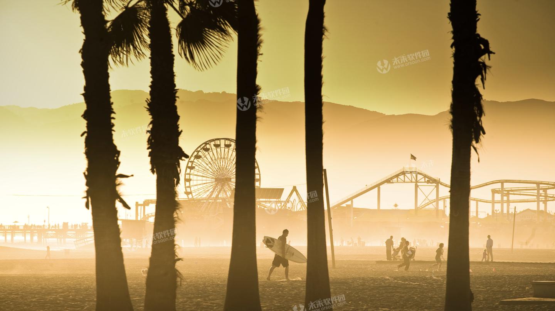 美国加州海滩风景5K动态壁纸