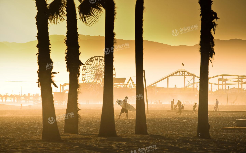 加州海滩3k高清动态壁纸