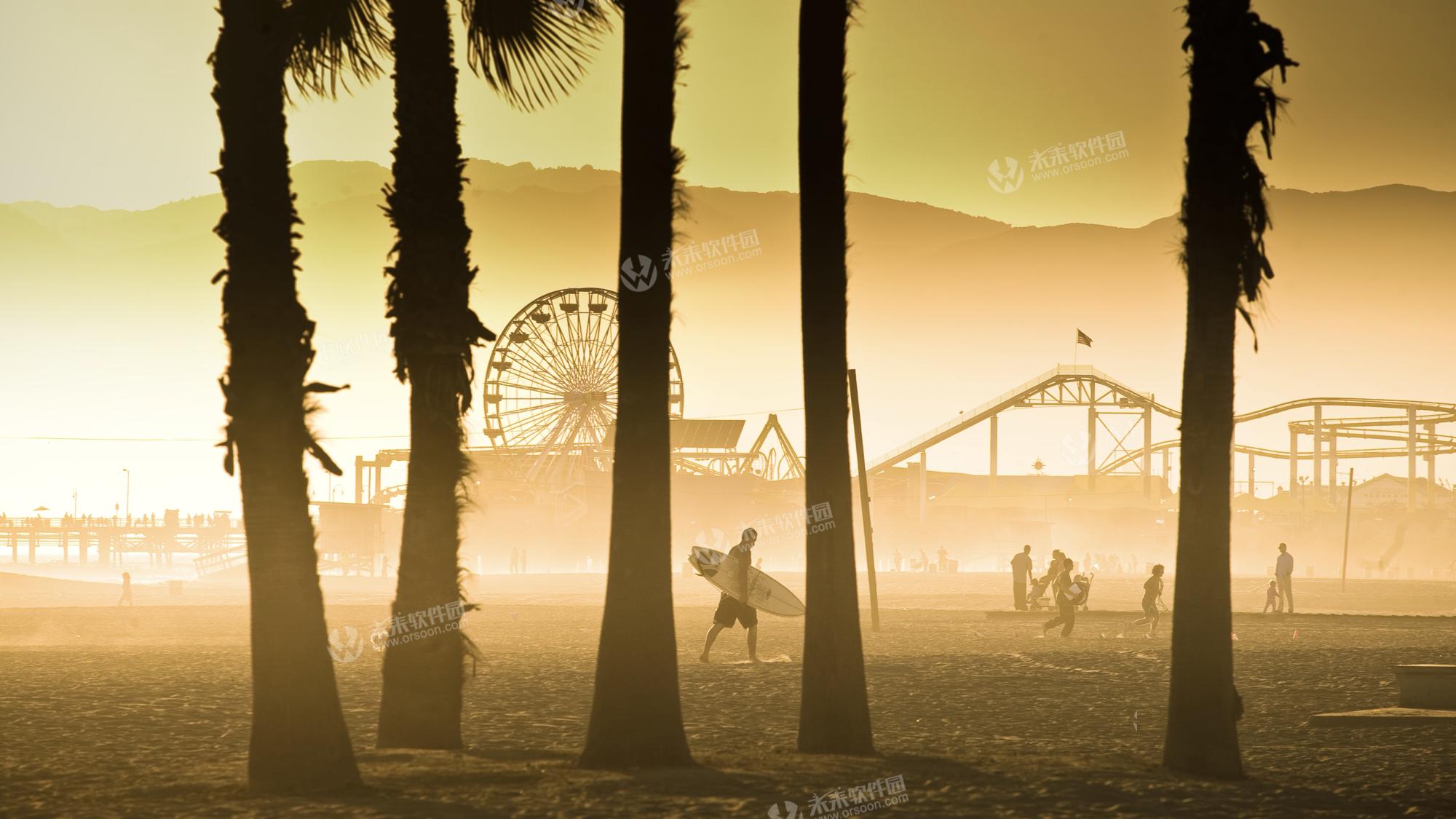 美国加州海滩4k动态壁纸