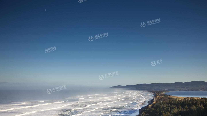 俄勒冈海岸线风景4K动态壁纸