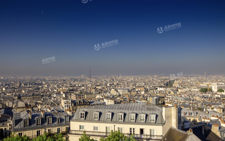 巴黎城市风景3k动态桌面壁纸