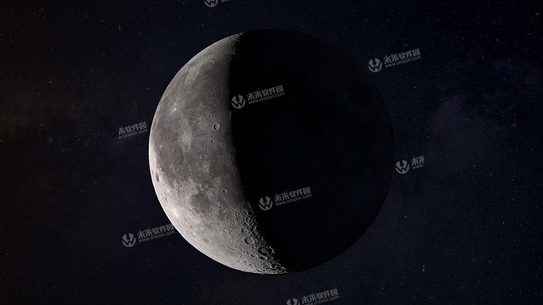 5k月球高清动态桌面壁纸