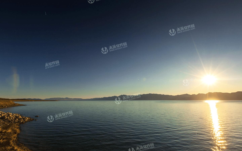 高清金字塔湖3k动态壁纸