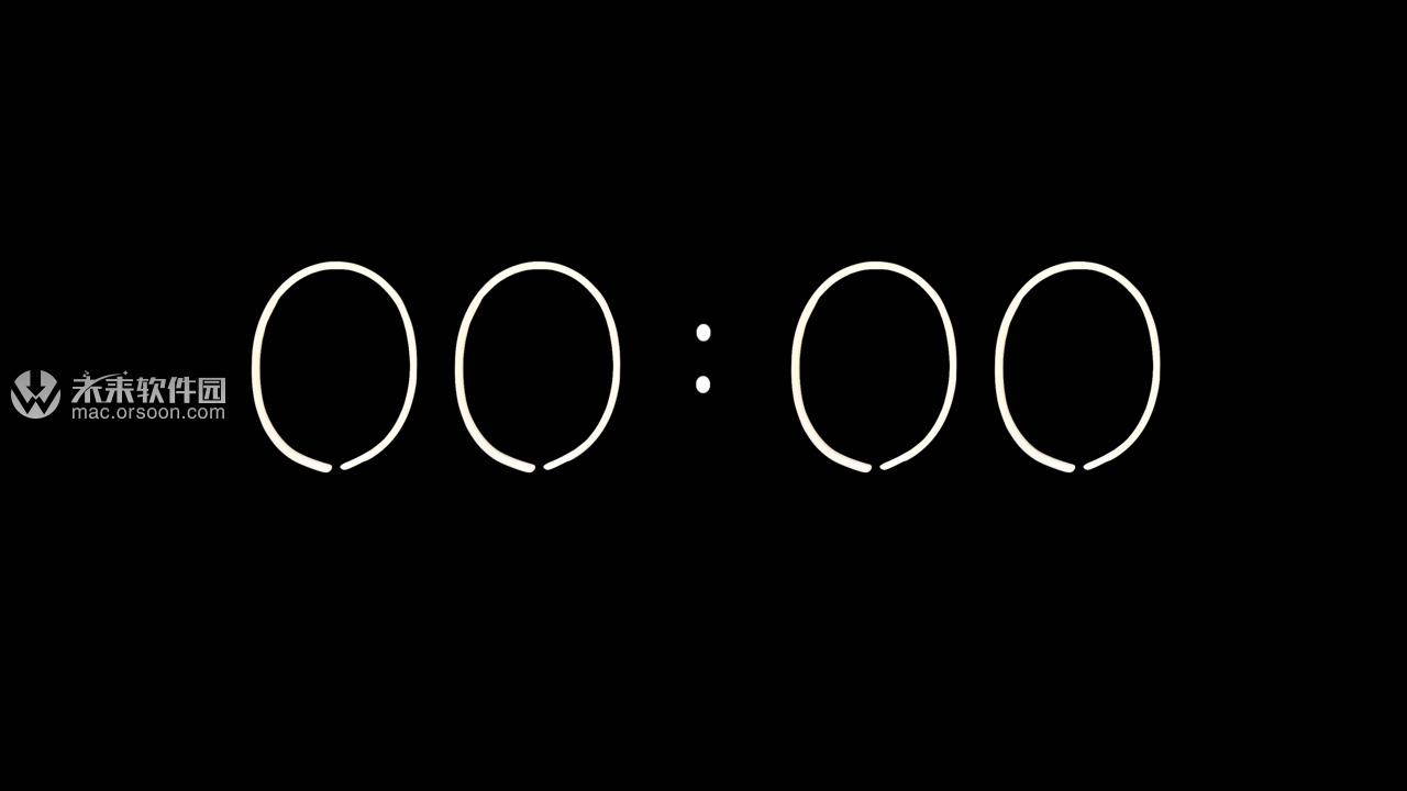 数字时钟5k动态壁纸