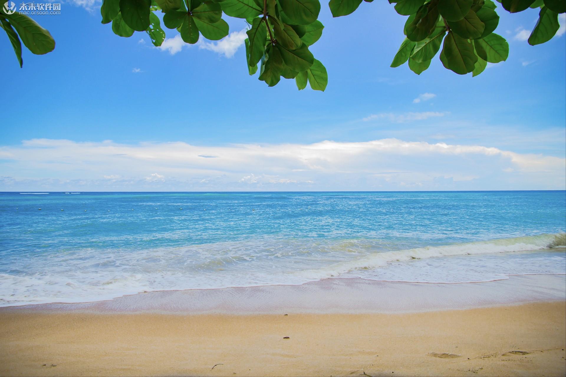 海滩风景高清桌面动态壁纸