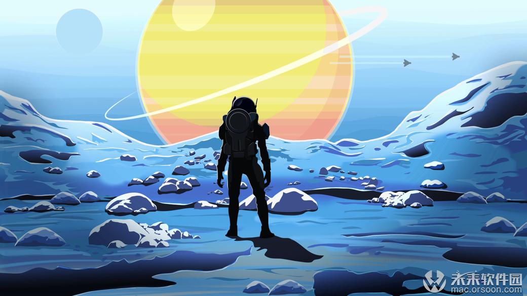 3k宇航员登陆新世界卡通漫画动态壁纸