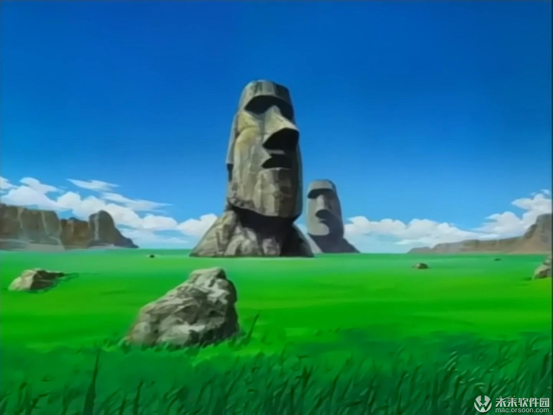 复活节岛石像动画动态桌面壁纸