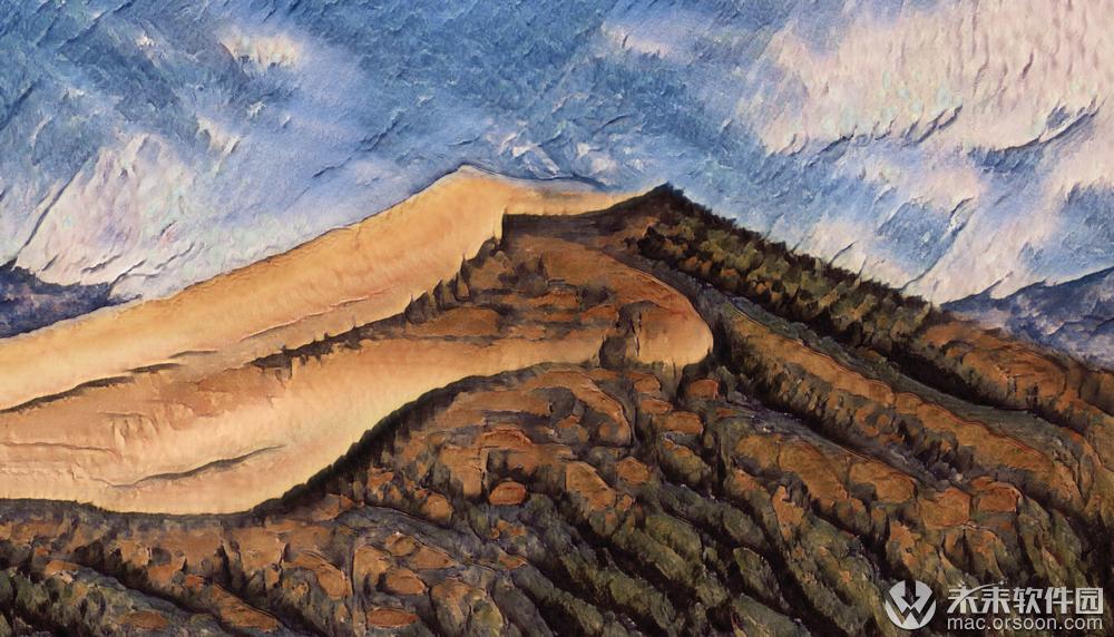 水彩山峰动态壁纸
