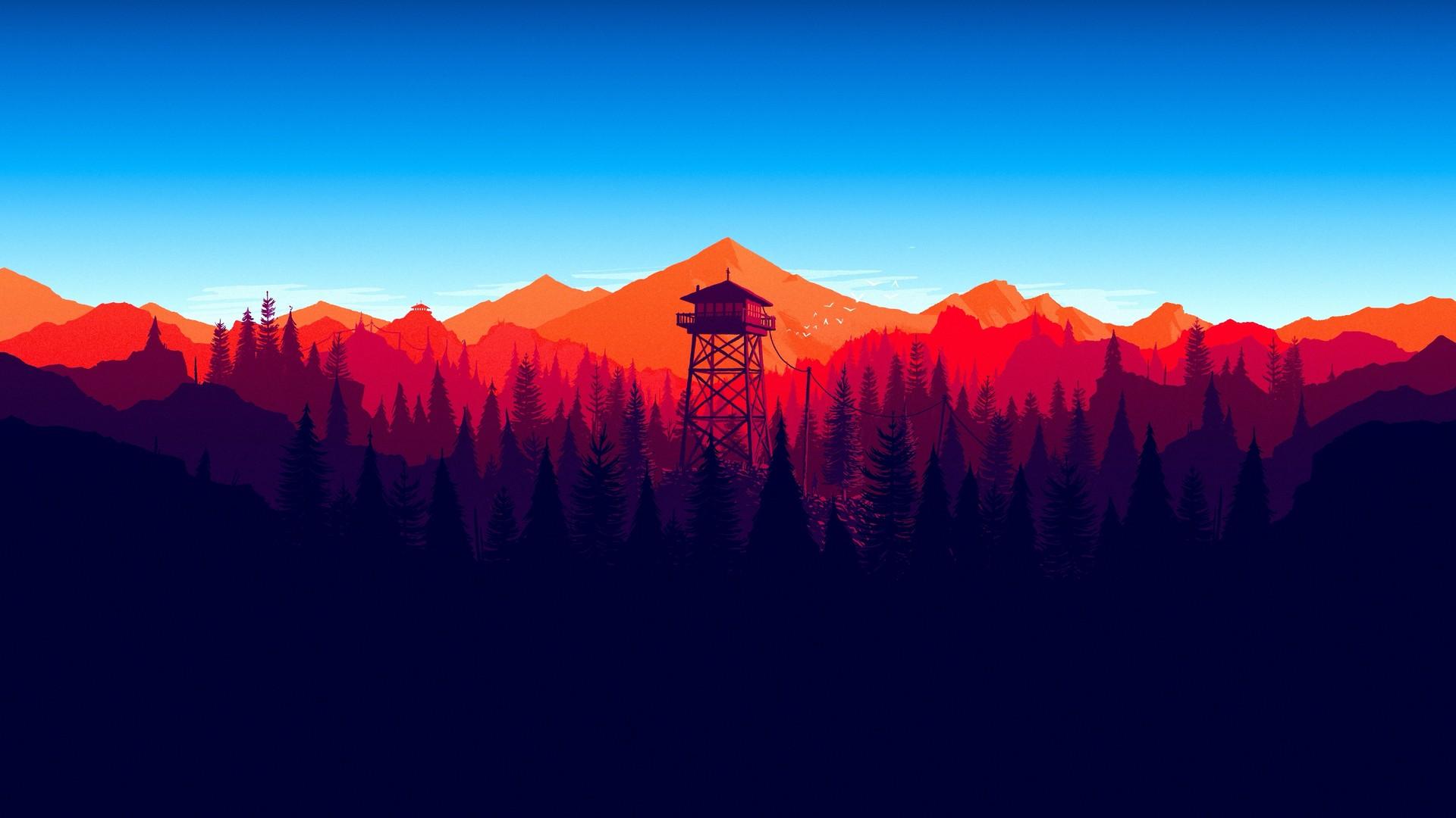 FireWatch看火人游戏风景Mac动态壁纸