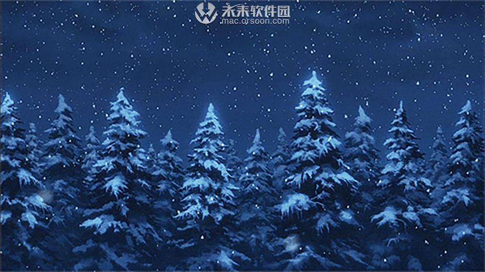 动漫森林雪景动态壁纸