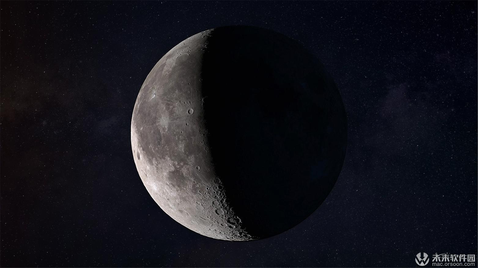 月球土星动态桌面壁纸