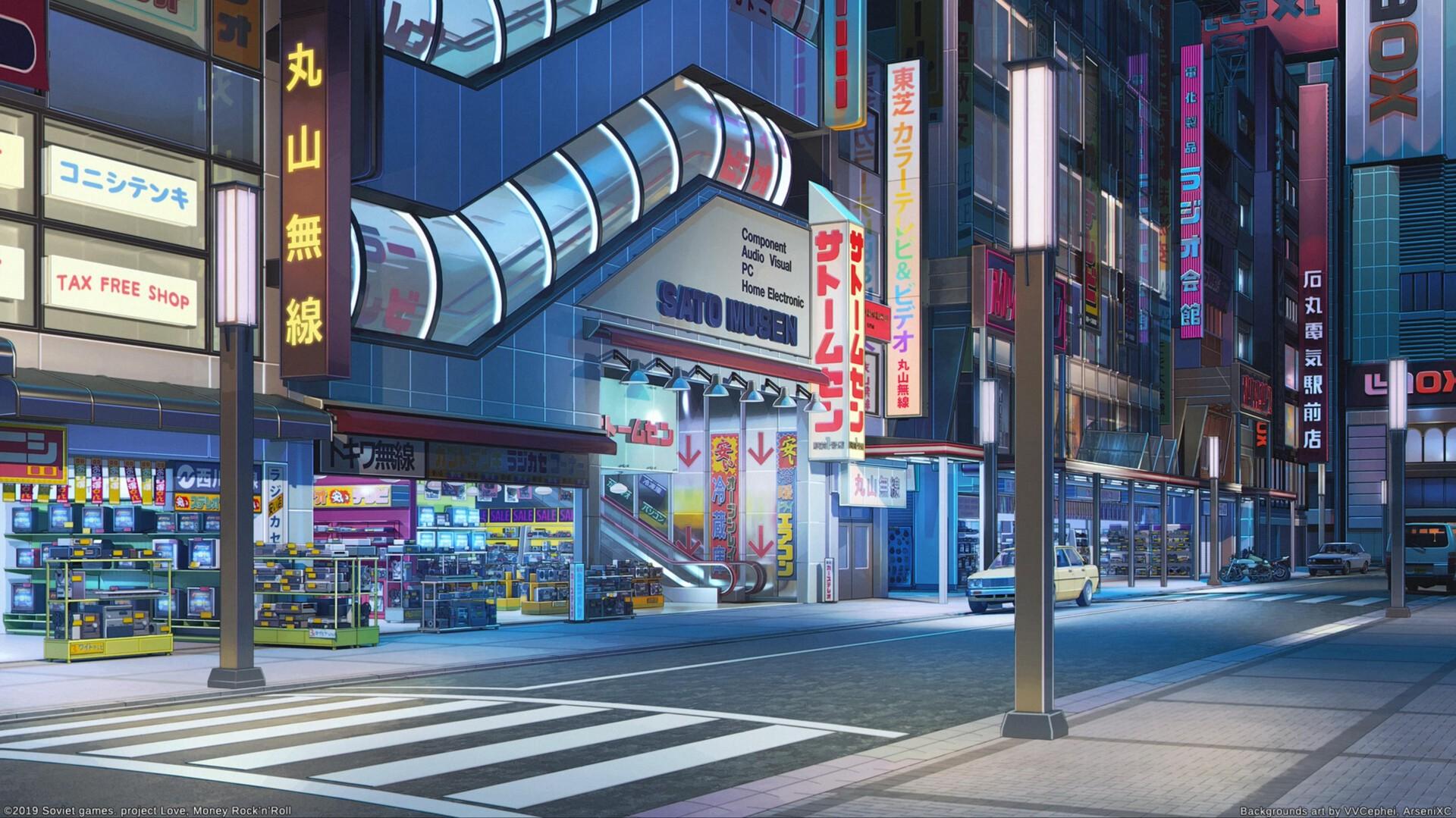 日本动漫街头高清Mac动态壁纸