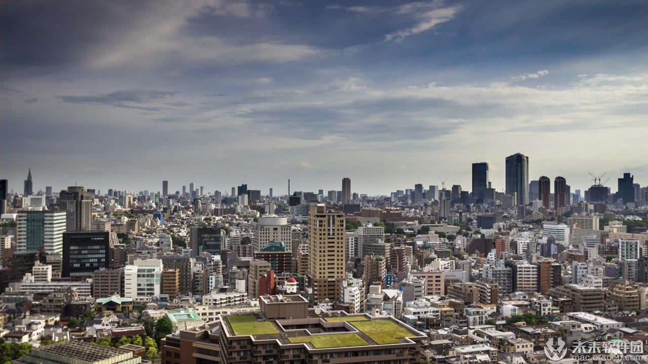 东京惠比寿城市风景5k动态壁纸
