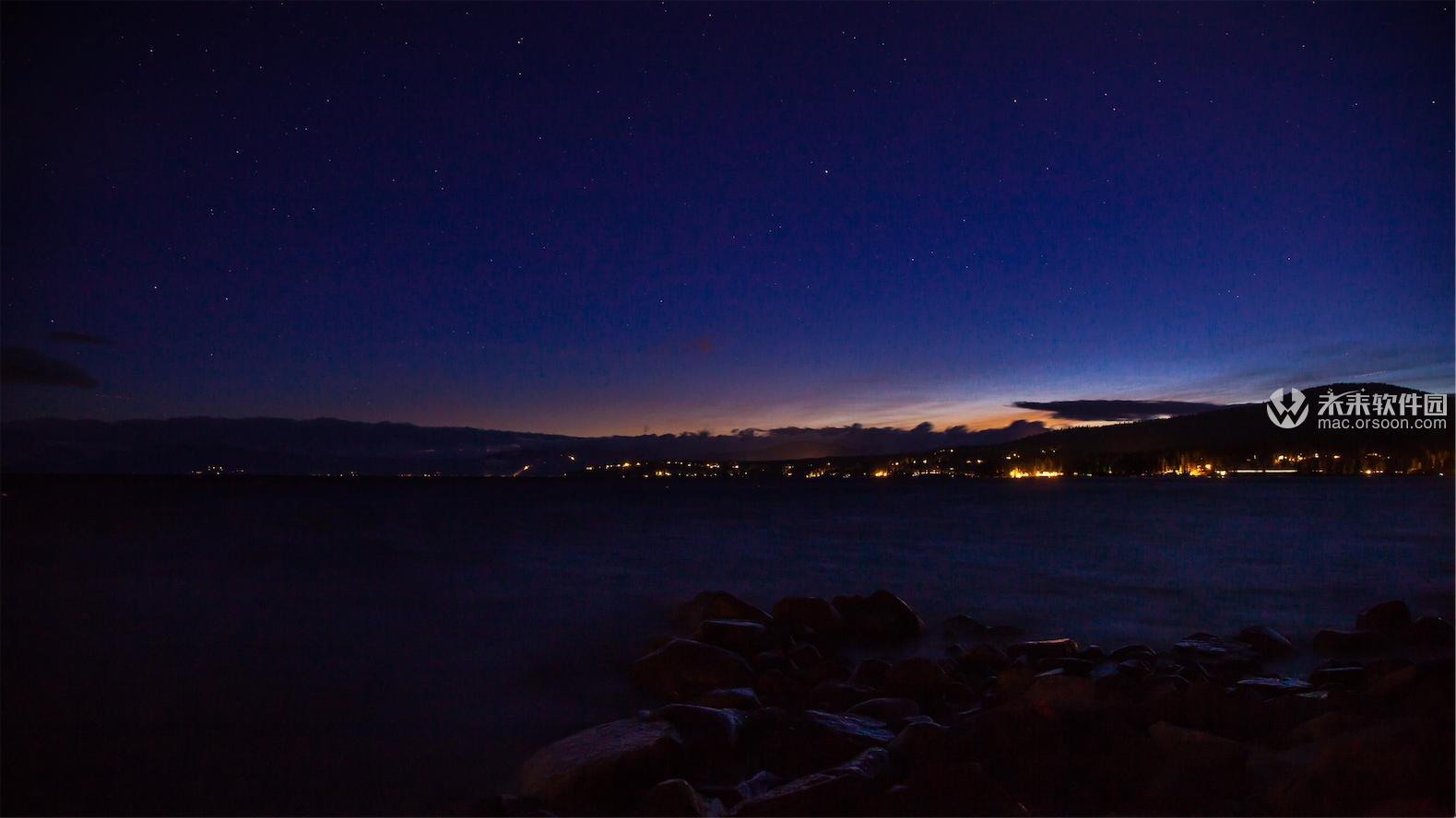 美国太浩湖风景3K动态壁纸