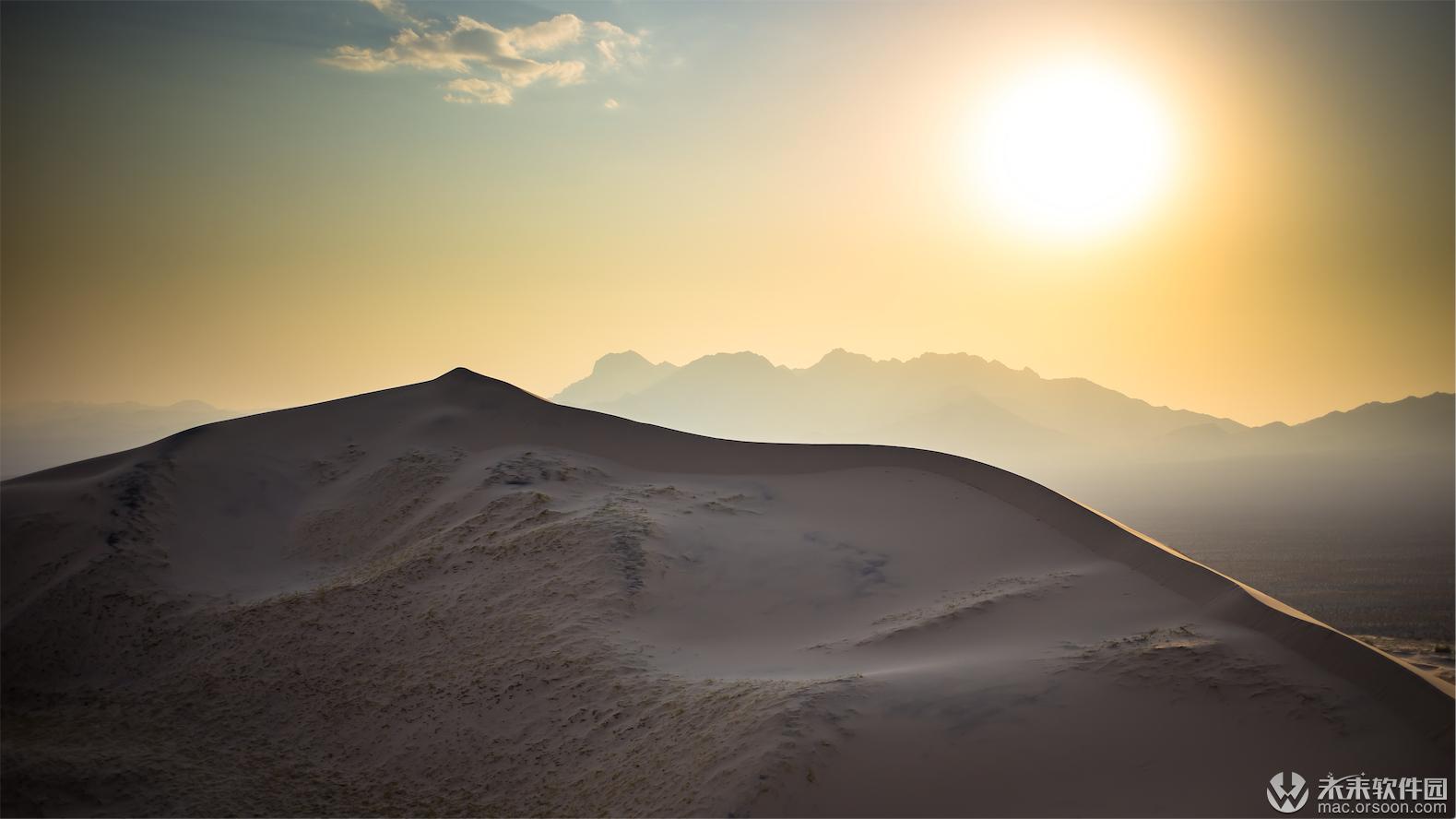 莫哈韦沙漠沙丘风光壁纸