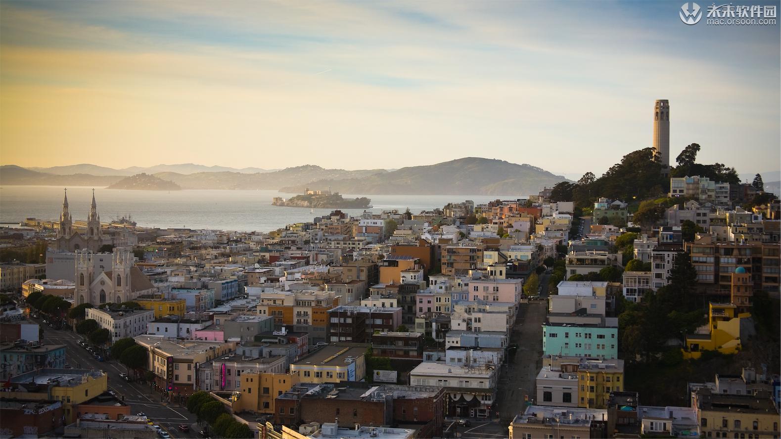 旧金山市区风光壁纸