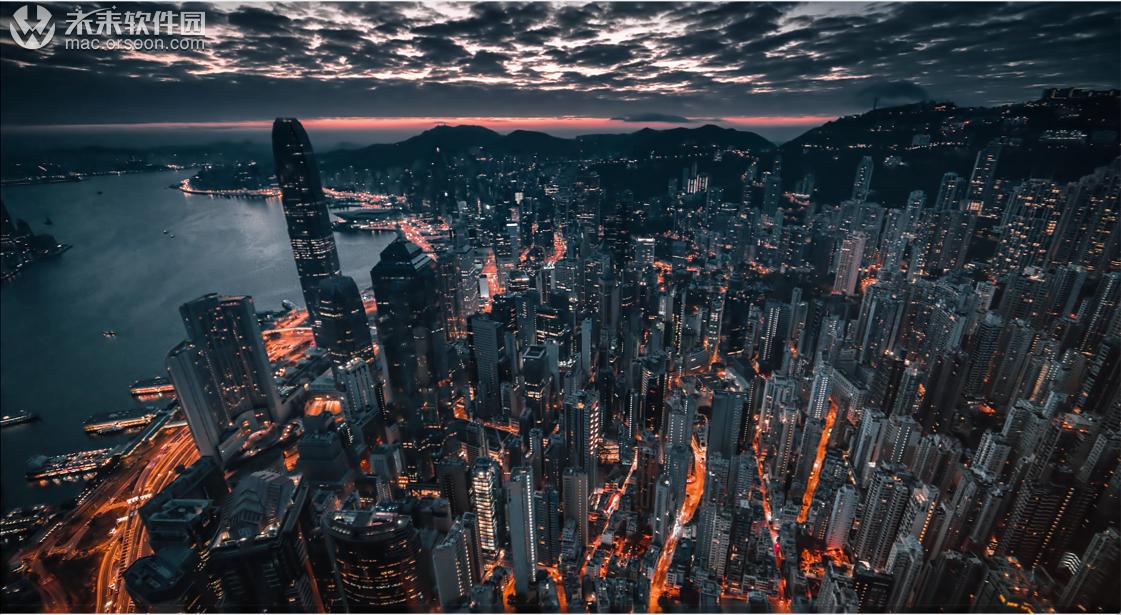香港城市夜景高清动态壁纸