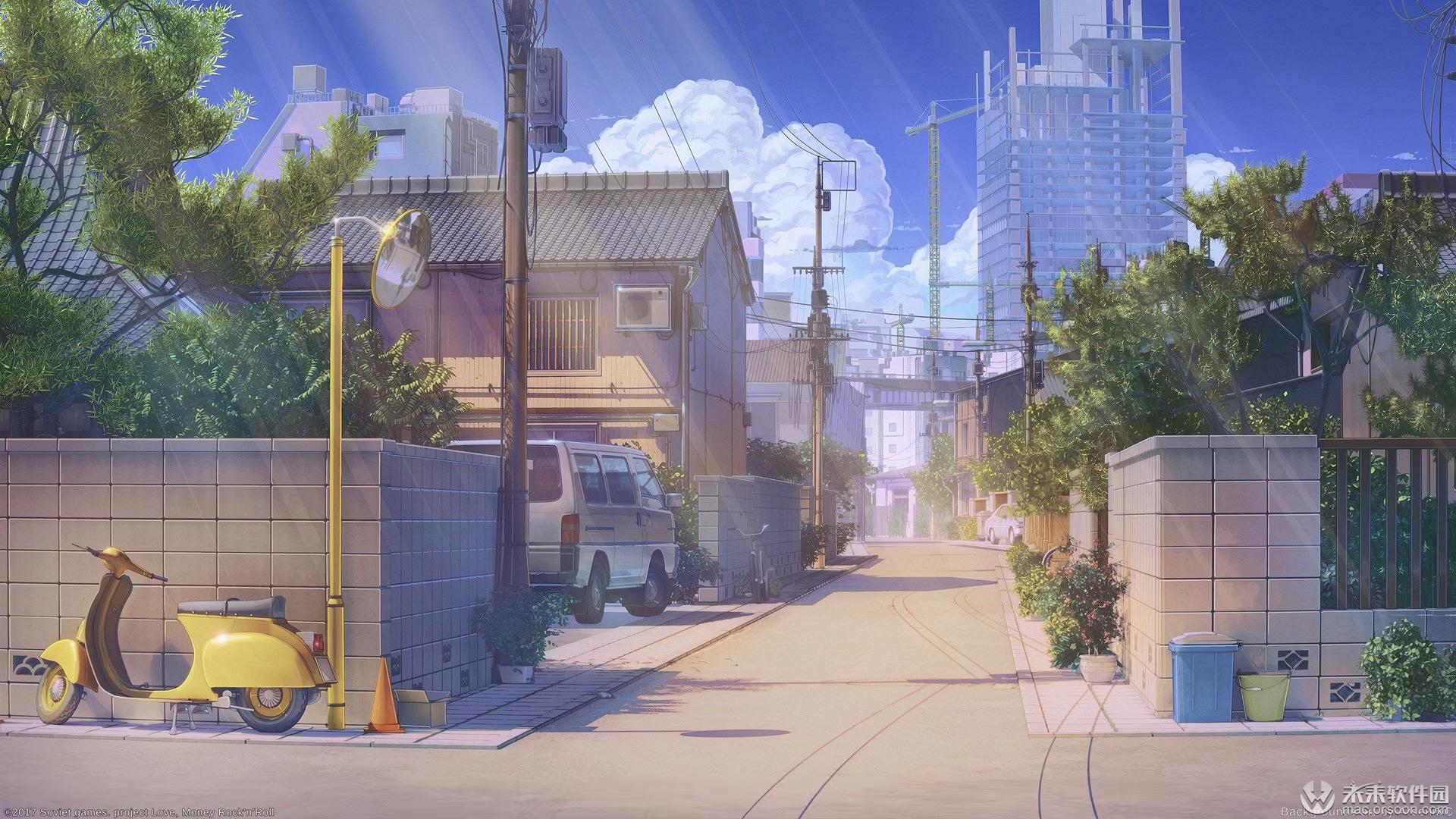 日本动漫街道风景动态壁纸