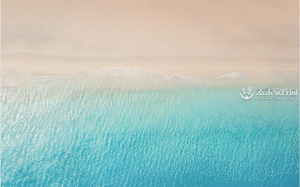 唯美沙滩航拍风景动态壁纸