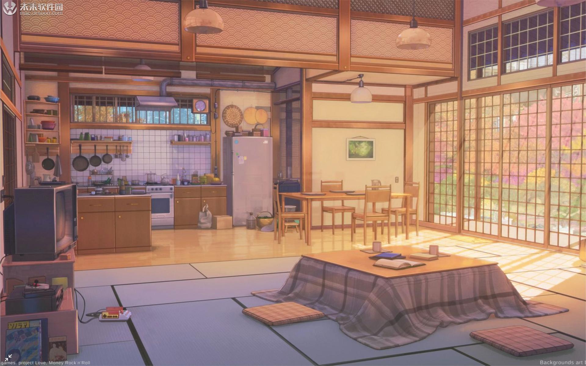唯美日本动漫室内Mac动态壁纸