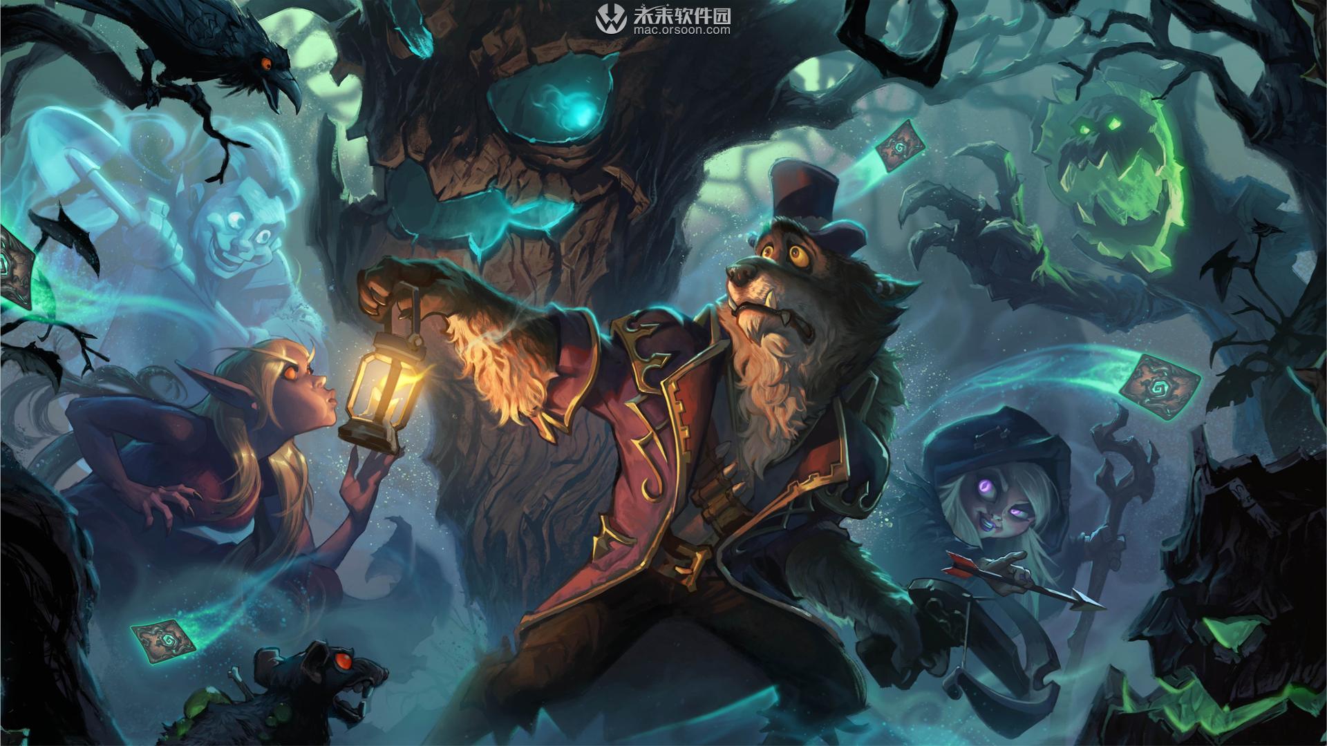 炉石传说女巫森林游戏Mac动态壁纸