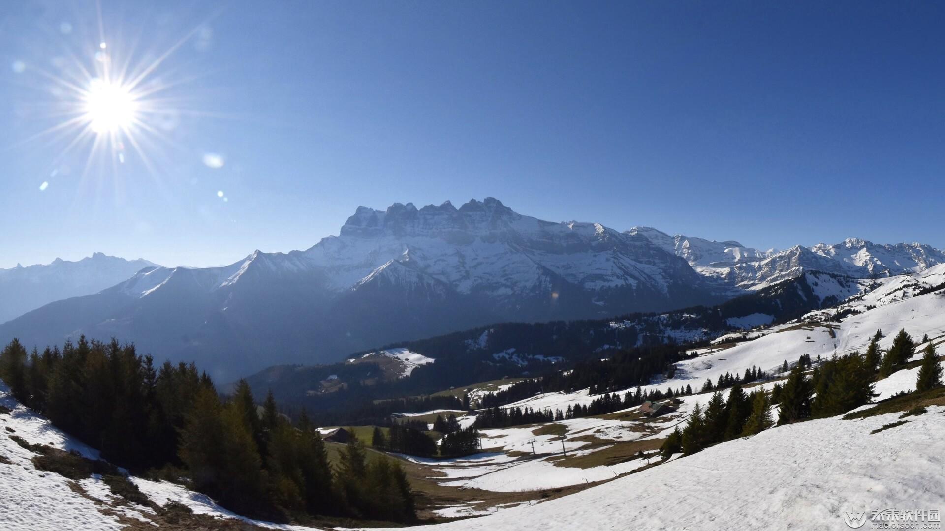 冬季雪景高清动态壁纸