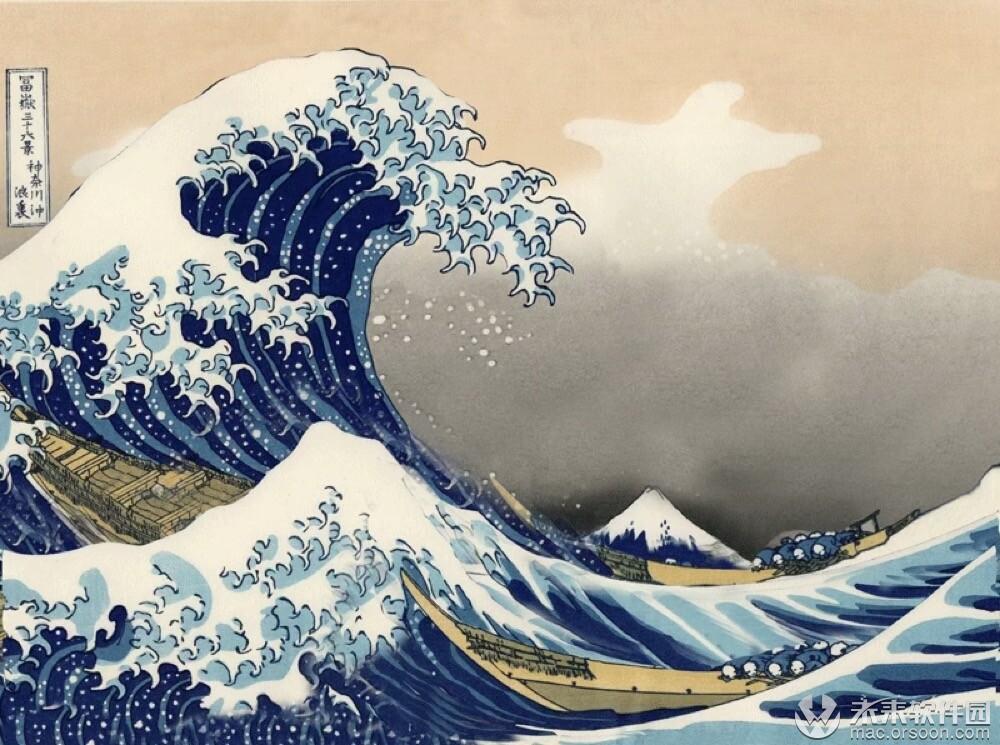 神奈川沖浪里动态壁纸