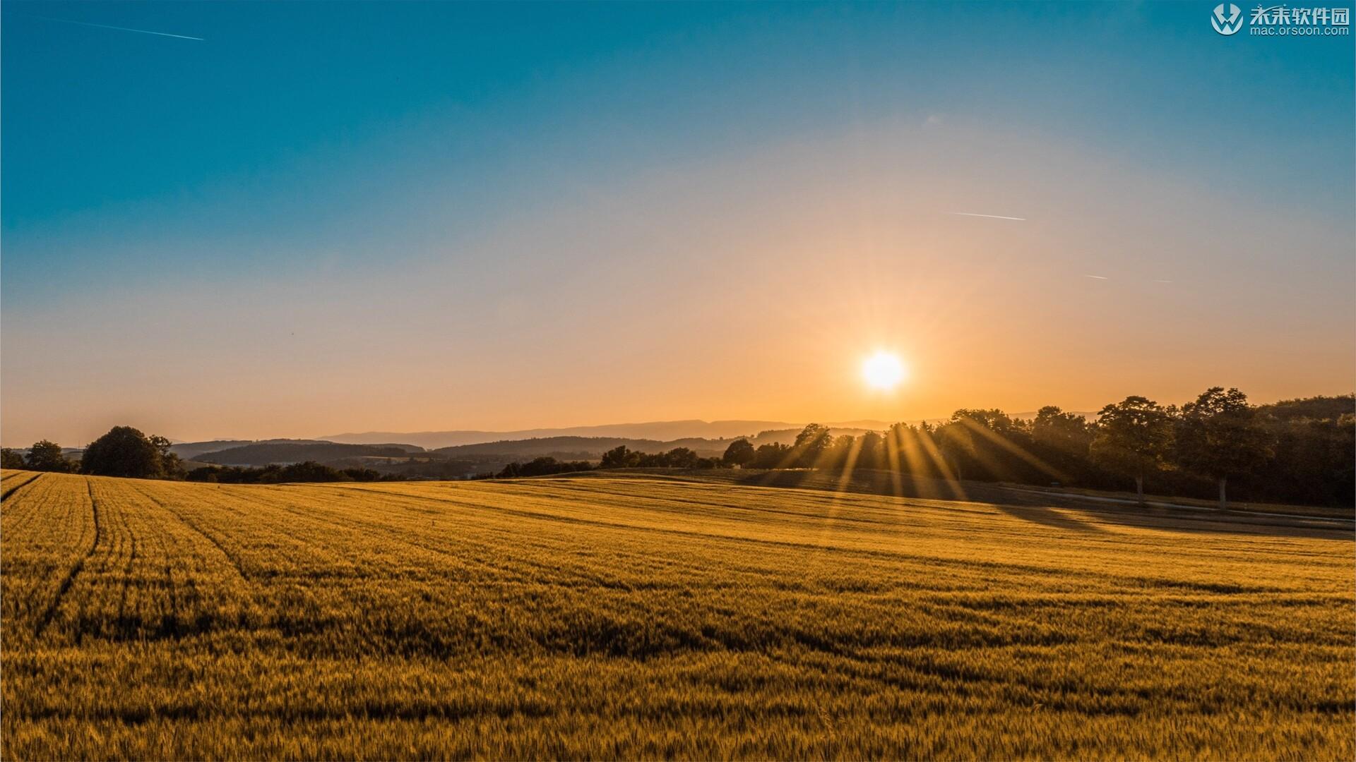 牧场日出日落风景高清Mac动态壁纸
