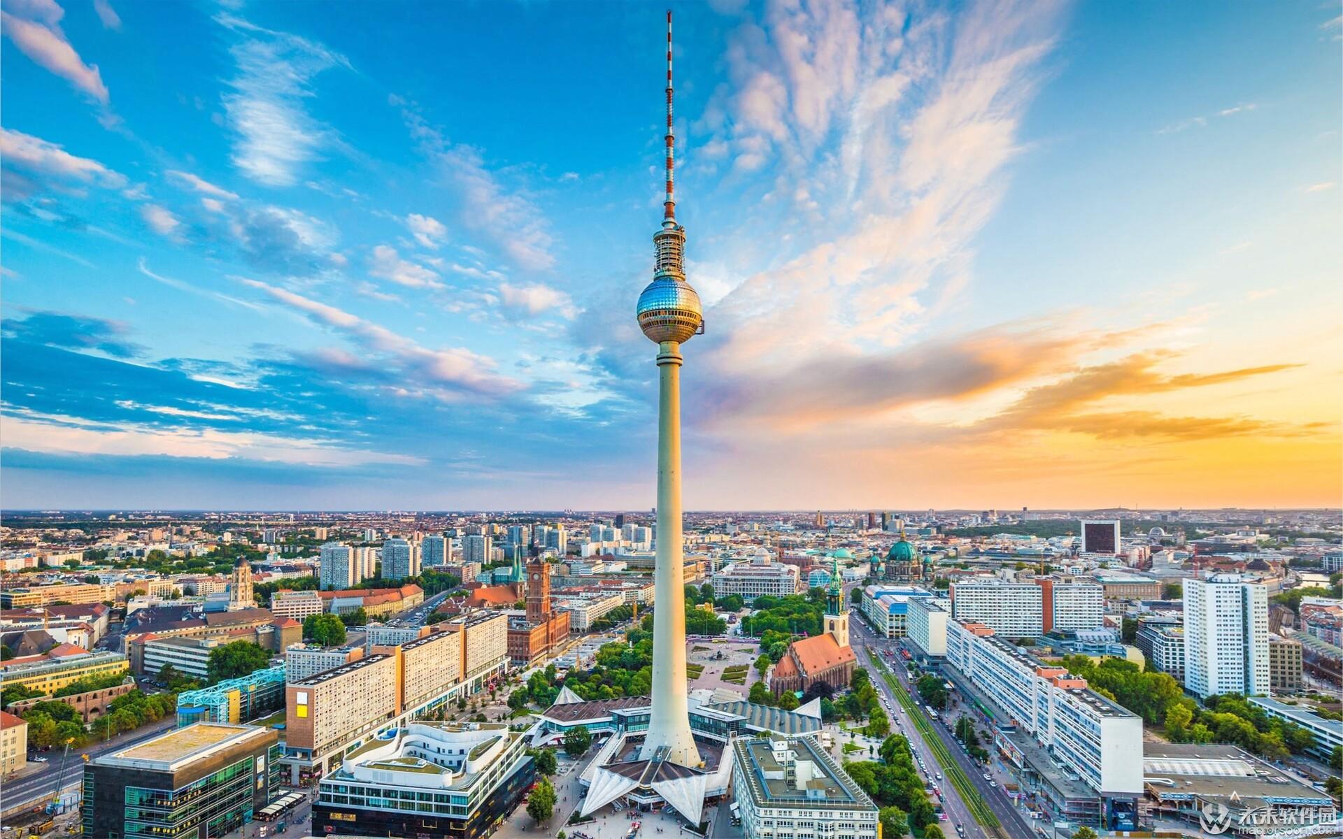 柏林电视塔建筑Mac动态壁纸