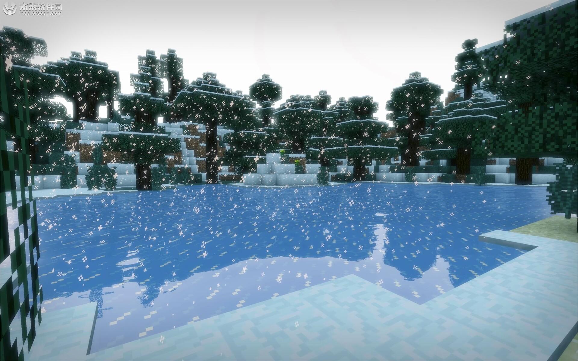 我的世界下雪天风景Mac动态壁纸