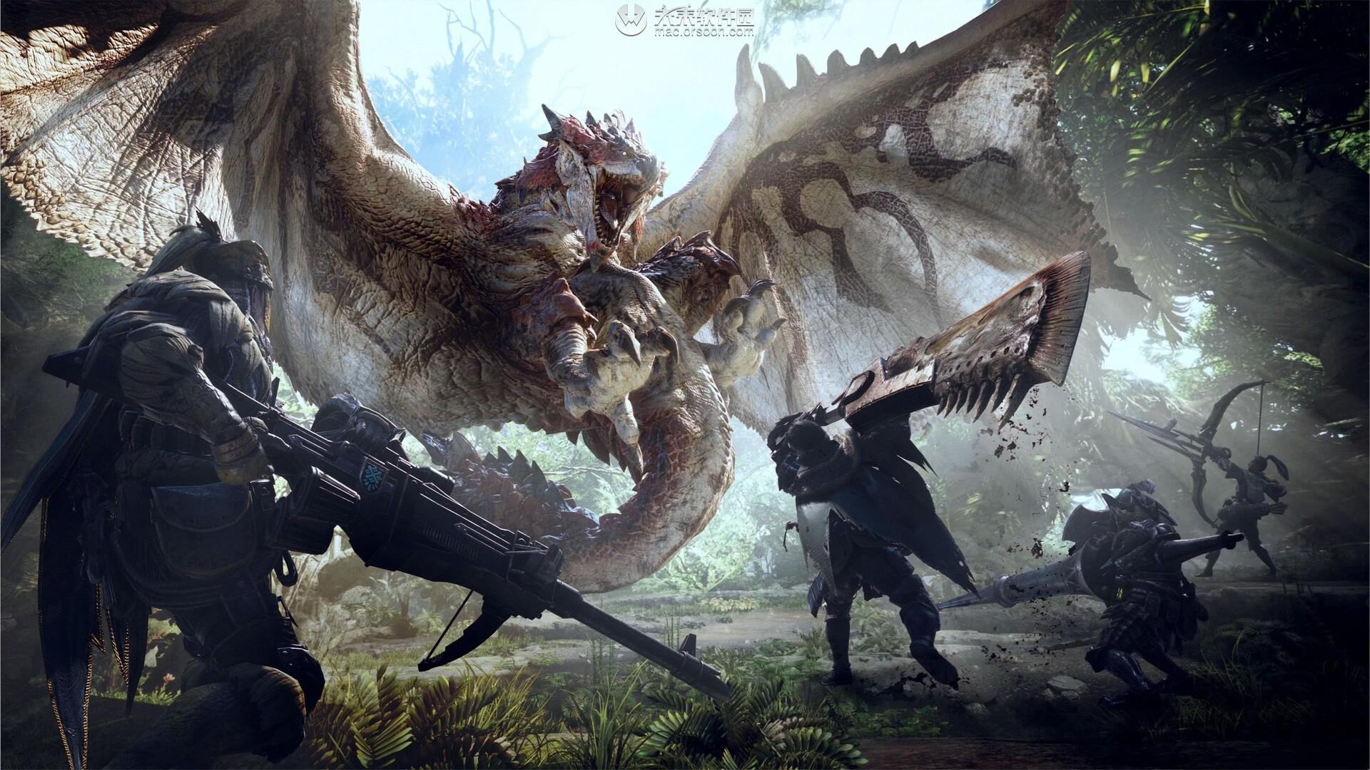 怪物猎人世界游戏Mac动态壁纸