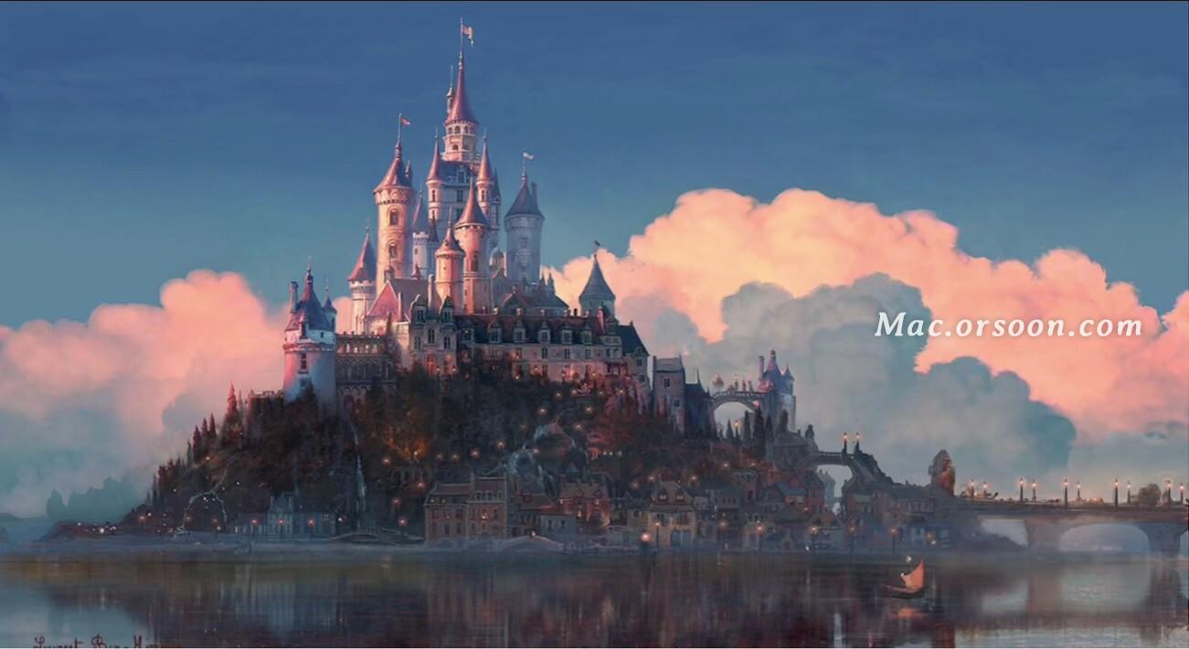 魔法奇缘长发公主古堡Mac动态壁纸